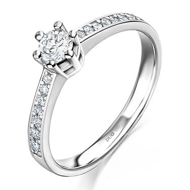 a0d859fd9e37 Anillo Oro blanco 18 Kt. Diamantes Ref. 1013d - Joyería Dabra