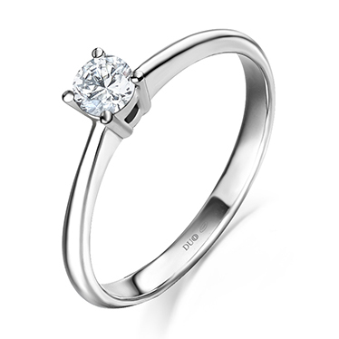 8941195c268f Anillo Oro blanco 18 Kt. Diamantes. Ref. 1014D - Joyería Dabra