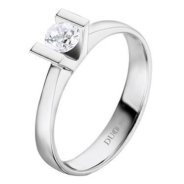 d3a86ac47d02 Anillo Oro blanco 18 Kt. Diamante. Ref. 1020D - Joyería Dabra