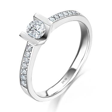 5e999dd7b5e3 Anillo Oro blanco 18 Kt. Diamantes Ref. 1021D - Joyería Dabra