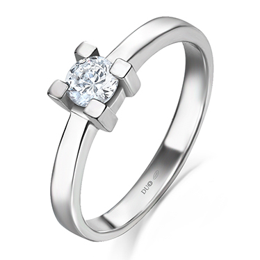 83bdf4332145 Anillo Oro blanco 18 Kt. Diamantes Ref. 1022D - Joyería Dabra