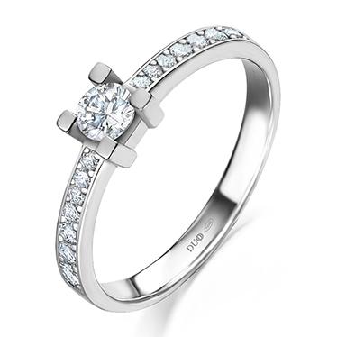 48f776297ed1 Anillo Oro blanco 18 Kt. Diamantes Ref. 1023D - Joyería Dabra