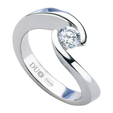 bb06da668246 Anillo Oro blanco 18 Kt. Diamante . Ref. 1050D - Joyería Dabra