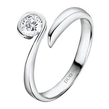 237bdeccb830 Anillo Oro blanco 18 Kt. Diamante. Ref. 1051D - Joyería Dabra