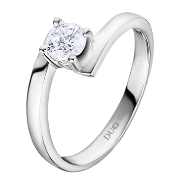 5af74ec7e2e6 Anillo Oro blanco 18 Kt. Diamante. Ref. 1052D - Joyería Dabra