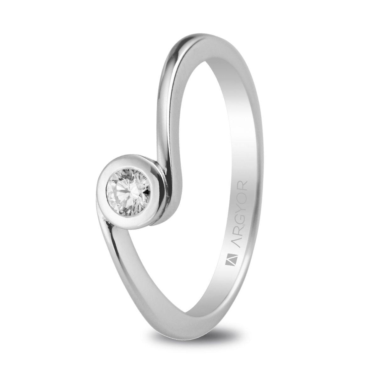 ced55891563a Sortija oro blanco 1 diamante 0.10ct. Anillo de compromiso 1 diamante  0.10ct – (18)74B0007