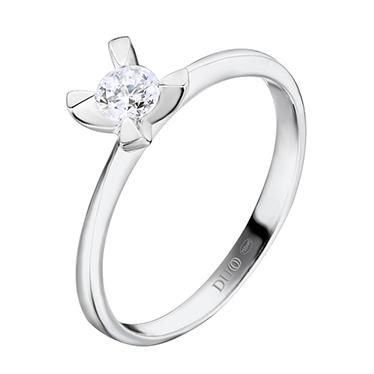 8bbbed320625 Anillo Oro blanco 18 Kt. Diamante. Ref. 1026D - Joyería Dabra