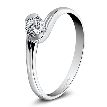 3adb0c5372ef Anillo Oro blanco 18 Kt. Diamante Ref. 1058D - Joyería Dabra