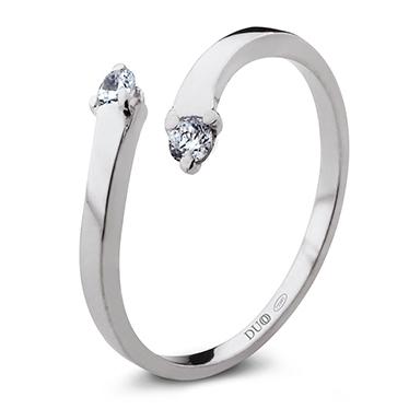 a6e85b11c5f3 Anillo Oro blanco 18 Kt. Diamantes Ref. 1069D - Joyería Dabra