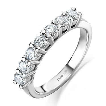 87edeeb8fb46 Anillo Oro blanco 18 Kt. Diamantes Ref. 1097D - Joyería Dabra