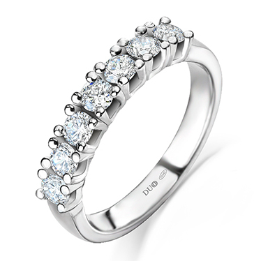 1ccd13bbc299 Anillo Oro blanco 18 Kt. Diamantes Ref. 1098D - Joyería Dabra