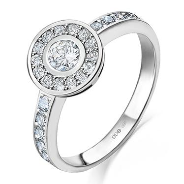 5a66486731a8 Anillo Oro blanco 18 Kt. Diamantes Ref. 1101D - Joyería Dabra