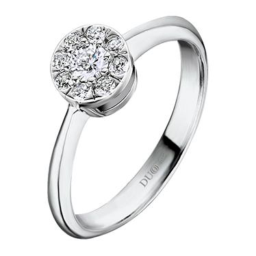 c13af9176cdd Anillo Oro blanco 18 Kt. Diamantes Ref. 1106D - Joyería Dabra