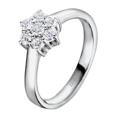 7dc7dd5e5ac6 Anillo Oro blanco 18 Kt. Diamantes Ref. 1112D - Joyería Dabra