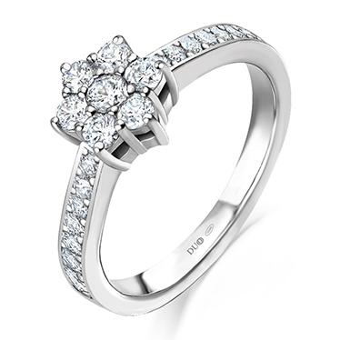 11b3f180a8b3 Anillo Oro blanco 18 Kt. Diamantes Ref. 1113D - Joyería Dabra