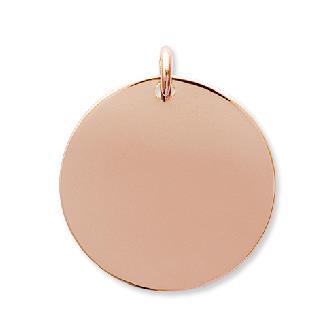 Cogante Plaque Oro 750. 3 Micras. Rosa.