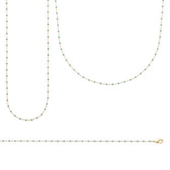 Collar Largo Plaque Oro 750. 3 Micras.